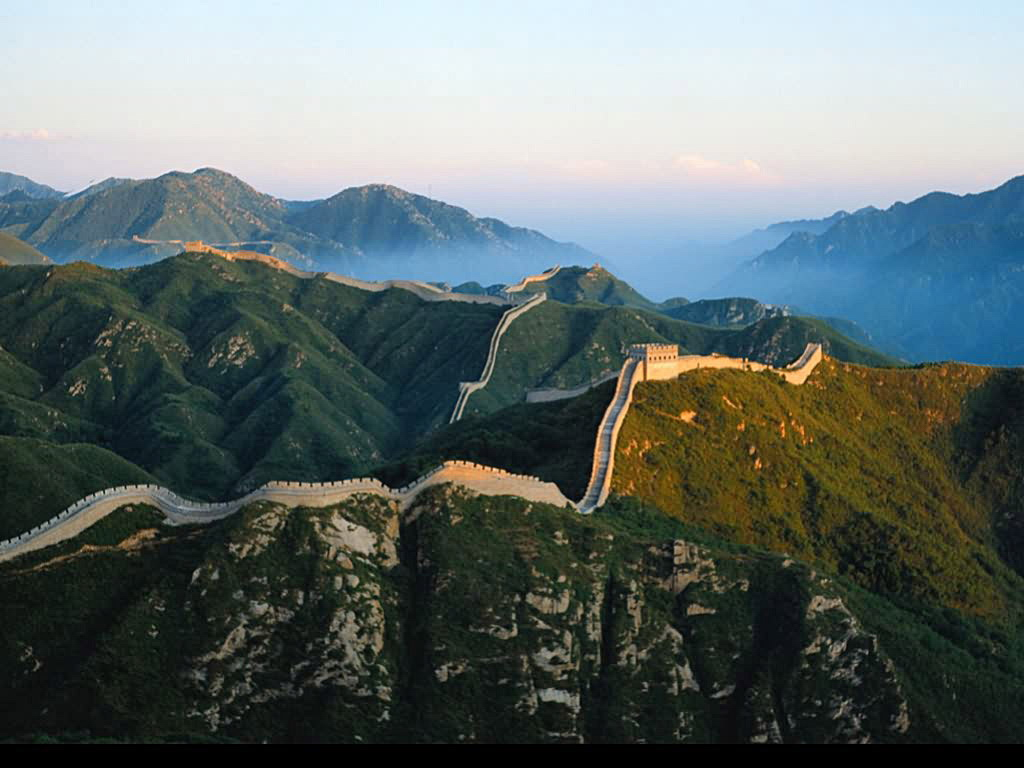 an panorama of the Great Wall of China spanning as far as the eye can see